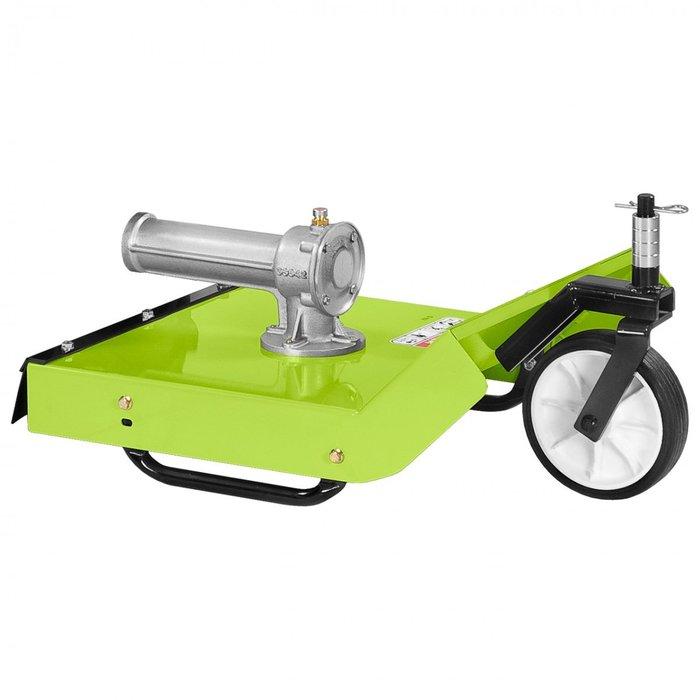 Grillo hat eine reichhaltige Zubehörpalette, die die Einsatzmöglichkeiten des GF1 vervielfacht, wie der Wiesenmäher mit 50 cm und, für die Nutzung im Winter, das schwenkbare Schneeschild mit 80 cm.
