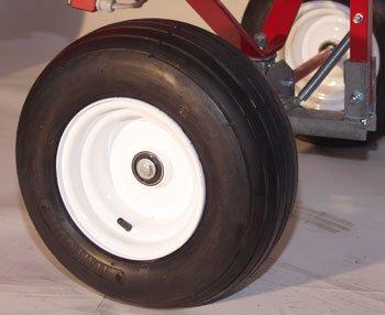 Sanftes Gleiten: Dank der großen Niederdruckräder lässt sich der GHX-CH1000 selbst auf weichem Untergrund leicht und sicher bewegen.