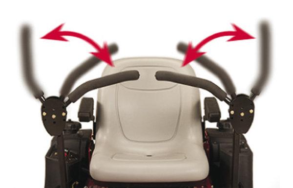bequemer Einstieg -  Durch die verstellbaren Fahrhebel ist ein bequemer Einstieg jederzeit garantiert.
