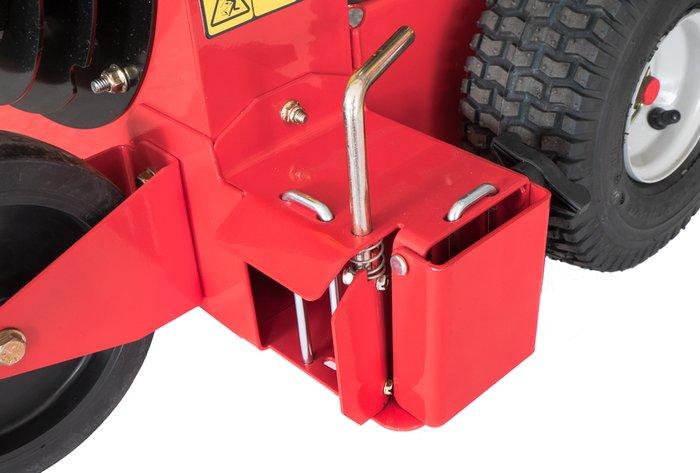 bläst zur Seite oder nach vorn -  Über eine einfache Bedienung kann der Luftauslass so verstellt werden, dass der Luftstrom zur Seite bläst oder nach vorn.