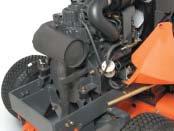 Durch den wesentlich besseren Drehmomentverlauf ist der 13,5 PS Dieselmotor des GR 1600II effektiver und viel belastbarer als viele Benzinmotoren mit höherer Leistungsangabe, und das bei weit geringerem Kraftstoffverbrauch.