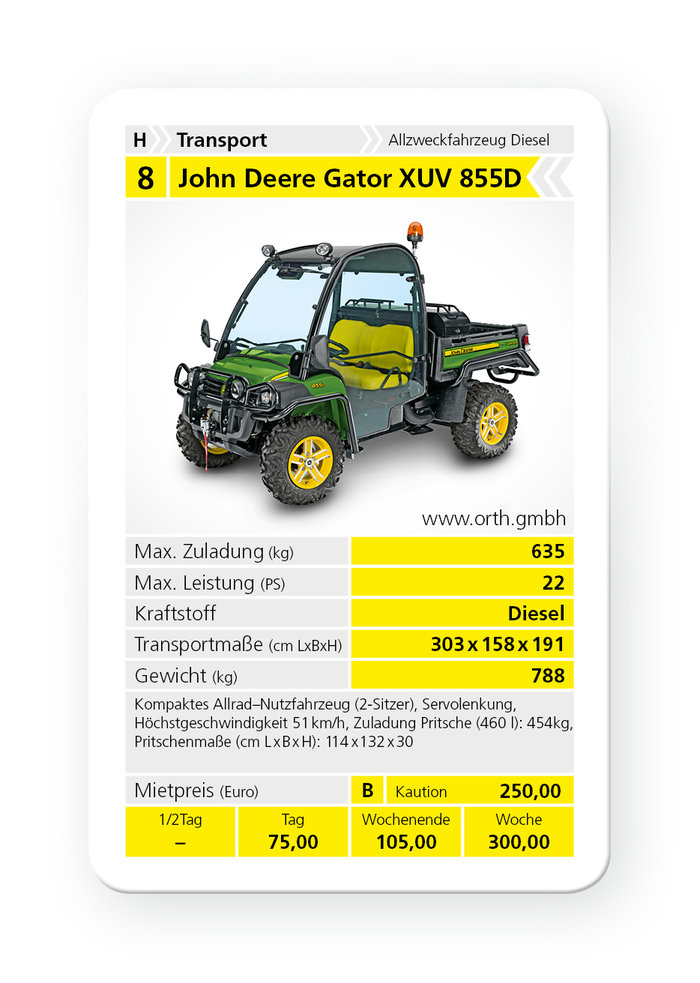 john deere gator xuv 855d mieten allzwecktransporter in odenthal bergisch gladbach bei. Black Bedroom Furniture Sets. Home Design Ideas