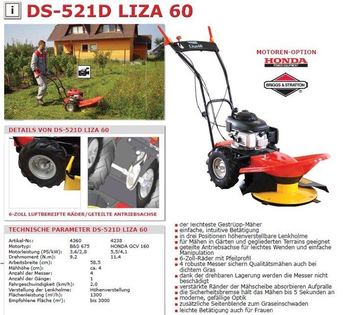 Gestrüppmäher DS 521BD-GMI/LIZA  MOTOR B&S