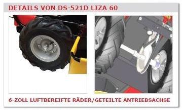 Gestrüppmäher DS 521D-GMI/LIZA, Getriebe