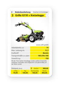 Mieten  Einachser: Grillo - Grillo G110 + Kreiselegge (mieten)
