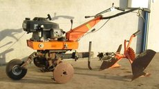 Gebrauchte                                                  Motorhacken:                         Brumi - Große Brumi Motorhacke mit Pflug 170019 (gebraucht)