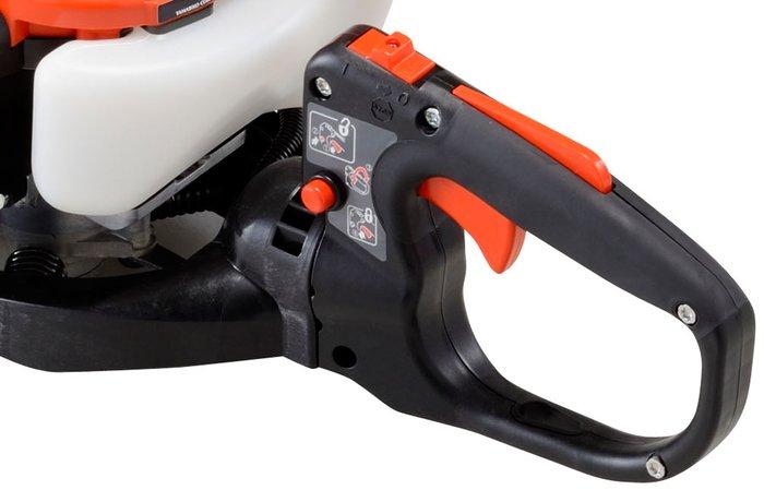 drehbarer Multifunktionsgriff  Ob horizontaler oder vertikaler Schnitt, Sie arbeiten mit dem Drehgriff mit 5 einstellbaren Positionen immer leicht und ergonomisch. So befindet sich der Handgriff immer in der ergonomisch richtigen Position. Eine zusätzlich integrierte Aufhängeöse (nicht bei HCR-1510) erlaubt leichtes Verstauen.