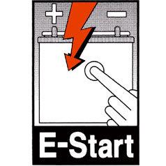 Motorstart mit Komfort: Das Gerät läuft per Elektrostart in wenigen Sekunden an. Bei Ölmangel oder Drehzahlabsenkung schaltet der Motor von selbst ab.