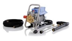 Kaltwasser-Hochdruckreiniger: Kränzle - B 200 T mit Turbokiller, Fahrgestell, Schlauchtrommel