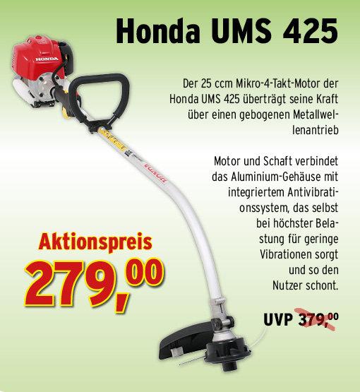 Motorsensen:                     Der Gartenprofi - HONDA UMS 425