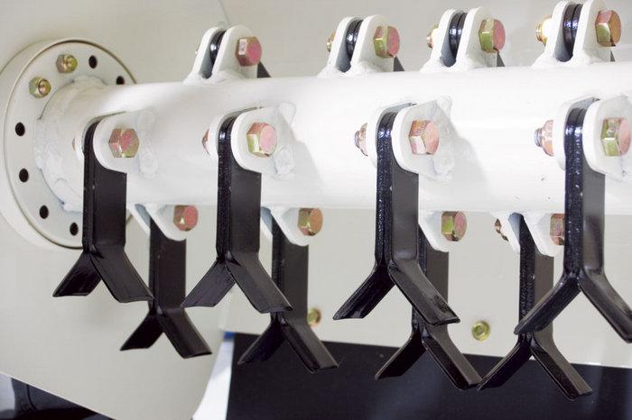 Robuste Messerwelle zur Sicheren Zerkleinerung harten Materials