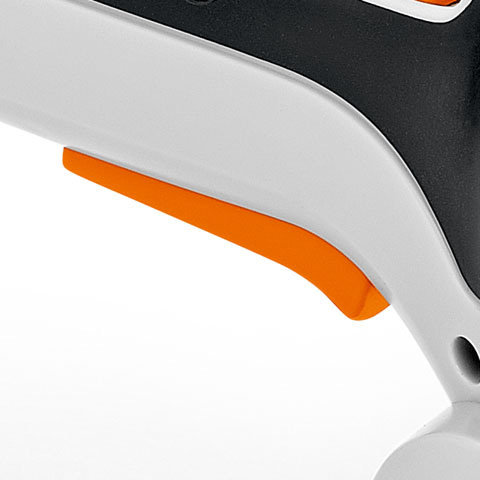 Schalthebel  Der große, ergonomische Schalthebel für eine Bedienung mit zwei oder drei Fingern macht die Handhabung des Gerätes ausgesprochen einfach.