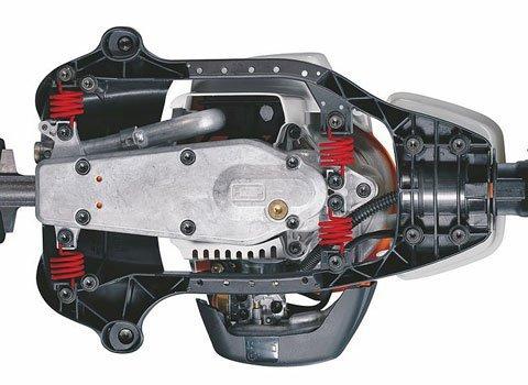 Werkzeugloser Tankverschluss  Patentierte Spezialverschlüsse für Kraftstoff- und Öltank. Die Tanks der damit ausgestatteten Motorgeräte lassen sich schnell, ohne Kraftaufwand und ohne Werkzeug öffnen und wieder verschliessen (Abb. ähnlich).