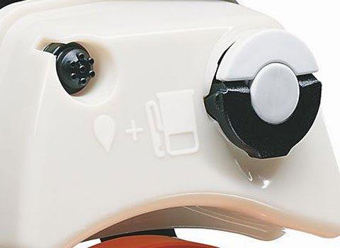 2-MIX-Motor  Der speziell für die neue Heckenscherengeneration konstruierte 2-Mix – Motor vereint niedrige Emissions- und Verbrauchswerte mit geringem Gewicht und ausgezeichneten Beschleunigungswerten. Auch für den Schnitt von dickeren Gehölzen stehen jederzeit ausreichend Leistungsreserven zur Verfügung.
