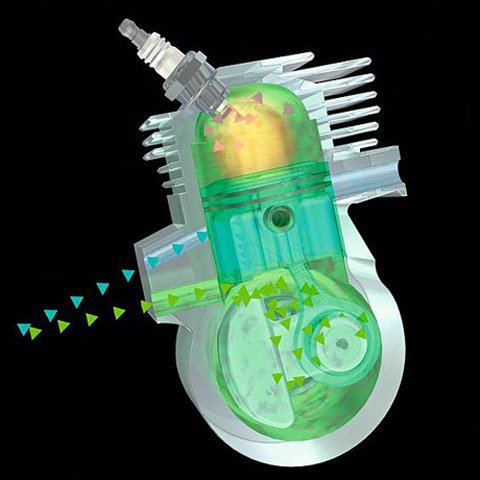 ErgoStart  Beim STIHL ErgoStart ist zwischen der Seilrolle der Anwerfvorrichtung und der Kurbelwelle eine zusätzliche Spiralfeder geschaltet, die gegen den Verdichtungsdruck am Kolben aufgezogen wird. Ist die Federkraft größer als der Verdichtungsdruck, dreht die Kurbelwelle durch und der Motor springt an. Der Anwender startet die Maschine bequem ohne störende Kraftspitzen. (Abb. ähnlich)