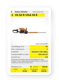 Mieten  Heckenscheren: Stihl - HS 82 R / HSA 94 R (mieten)