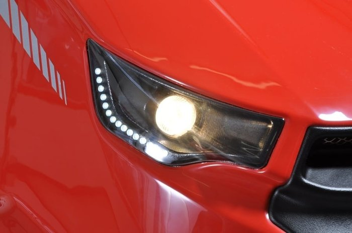 Halogen-Scheinwerfer und LED-Tagfahrlicht