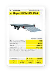 Mieten  Tandemanhänger: HAPERT - HV-MULTI 3000 (mieten)