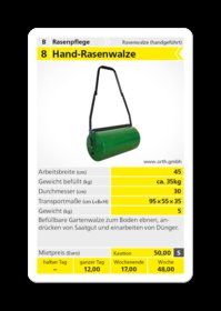Mieten Gartenwalzen: Rasenwalze - Hand-Rasenwalze (mieten)