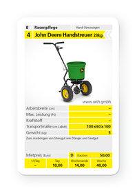 Mieten  Streuwagen: John Deere - Handstreuer (mieten)