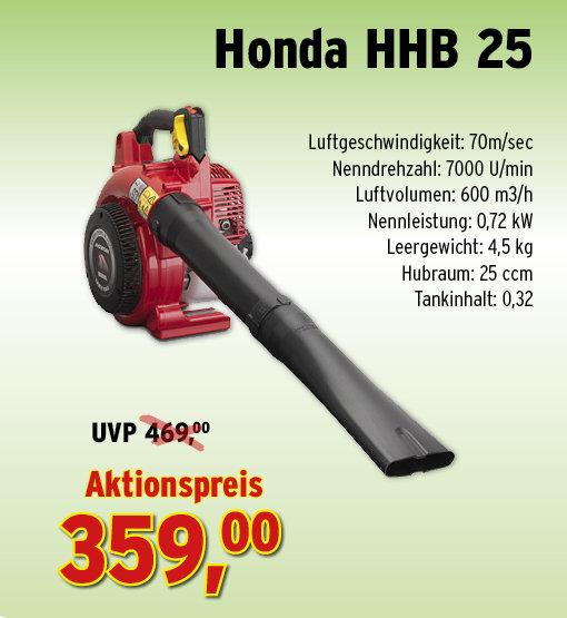 Laubbläser:                     Der Gartenprofi - Honda - HHB 25