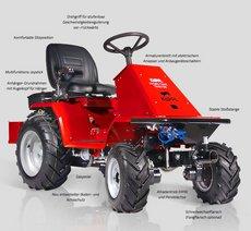 Frontmäher: Köppl - Hydro-Pony-Traktor Allrad / HPA 22 E