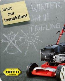 Wartung:                         - - Inspektion Benzin Rasenmäher