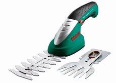 Heckenscheren: Bosch - Isio Set - 1 Isio, 2 Messer (Gras- und Strauchschere)