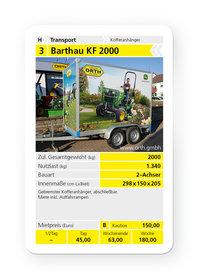 Mieten  Kofferanhänger: Barthau - KF 2000 (mieten)