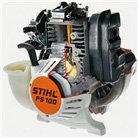 Automatische Dekompression  Das Dekompressionssystem öffnet beim Anwerfen des Motors automatisch das Einlassventil. Das nimmt die Druckspitzen und reduziert den Kraftaufwand am Anwerfseil erheblich. (Abb. ähnlich)