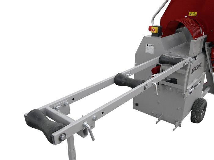 optionale Rollenbahn zur Holzauflage bis 350 cm Länge