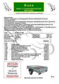 Angebote Kastenanhänger: Unsinn - K 1325-14-1400 (Aktionsangebot!)
