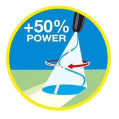 Der Dreckfräser ist genauso kraftvoll wie ein Punktstrahl. Doch durch die rotierende Bewegung des Punktstrahls wird eine flächendeckende Reinigung möglich. Mit dem Dreckfräser kann man schnell und effizient große Flächen vom Schmutz befreien.