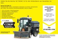 Mieten  Kommunalfahrzeuge: Kärcher - Kärcher MC 50/MIC 34 inkl. Winterausstattung (mieten)