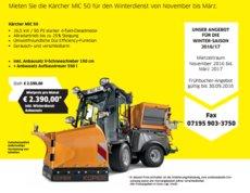 Mieten  Kommunaltechnik: Kärcher - Kärcher MIC 50 inkl. Winterausstattung (mieten)