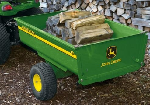 Anbaugeräte:                     John Deere - Kippanhänger Typ 13 für Aufsitzmäher