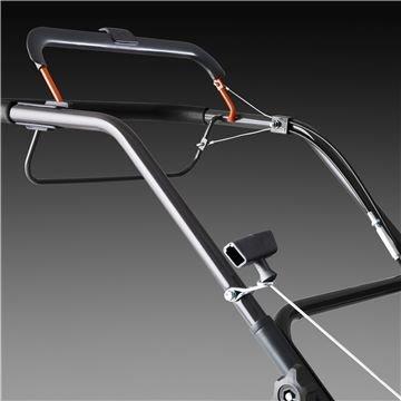 Ergonomische Griffstange Ergonomische Winkel des Lenkers in Kombination mit einfachem Bügel Arme zu erreichen macht die Bedienung einfach.