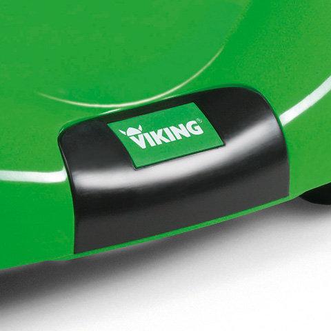 Tragegriff  Am Gehäuse vorne ist ein Tragegriff integriert. Dieser ermöglicht einfaches Verladen bzw. Aufkippen des Gerätes. Zugleich dient der Tragegriff als Anstoßschutz und schützt das Gehäuse beim Anfahren an Hindernisse. (ähnliche Abbildung).