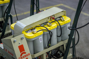 Drei gewickelte Blei-Gel Batterien von Optima
