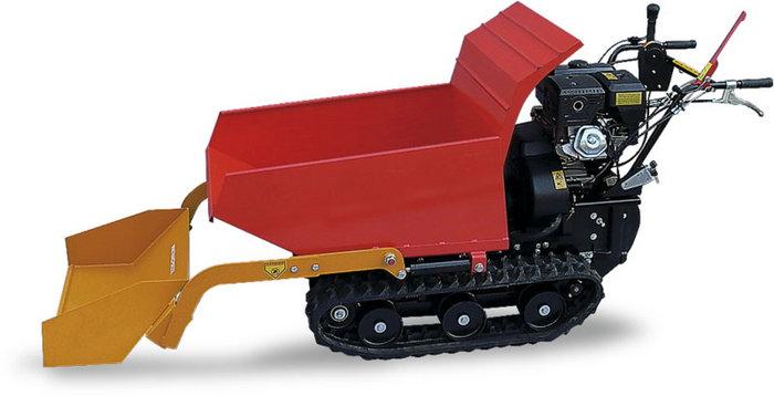LS 550 mit Option Ladeschaufel. inkl. hydraulisch kippbarer Wanne 1.000x600x400mm und Ladeschaufel (150kg Tragfähigkeit)