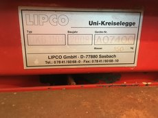 Gebrauchte Kommunaltechnik: Lipco - Lipco UKD 110 L Uni Kreiselegge (gebraucht)