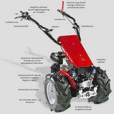 Einachsschlepper: Köppl - Luchs-Hydro -2 / LHR 12 H -2 (Grundgerät ohne Räder und Anbaugeräte)