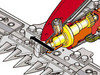 Der bewährte REFORM Rotations-Mähantrieb mit neuem Klingenschutz Dank patentierter Lagerung zwischen Antriebszapfen und Zahnkurbeltrieb gibt es keine Dreh- und Gleitbewegung im Messerkopf. Der Klingenschutz sorgt für weiches, verschleißfreies Ansprechen im Mäheinsatz und ist je nach Balkentype und Balkenbreite einstellbar