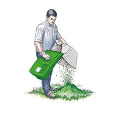 Komfortabler Grasfangkorb  Komfortabler, klappbarer 40-l-Grasfangkorb mit Füllstandsanzeige