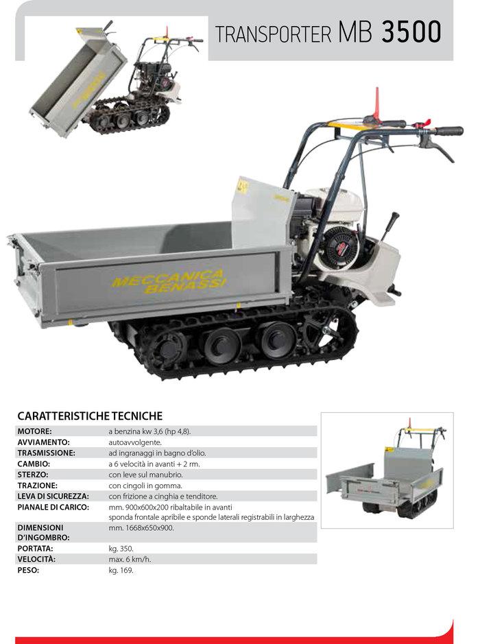 Gebrauchte                                          Transporter:                     Mecchanica Benassi - MB 3500 Raupentransporter - Ausstellungs-Neumaschine preisreduziert & nicht (gebraucht)