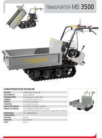 """Gebrauchte  Transporter: Meccanica Benassi - MB 3500 Profi""""T"""" Raupentransporter STARK mit XXTraVorteil Ausstellungsgerät * NICHT * (gebraucht)"""