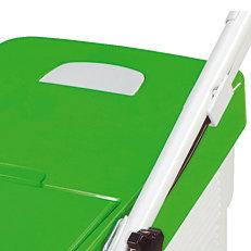 Integrierte Füllstandsanzeige: Bei allen VIKING-Heckauswurfmähern ist eine Füllstandsanzeige in den Grasfangkorb integriert. Sie signalisiert den richtigen Entleerungszeitpunkt (ähnl. Abb.).