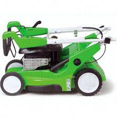 Klappbarer Holm: Dank des klappbaren Holms sind VIKING-Rasenmäher schnell und mühelos zu transportieren. Außerdem lassen sie sich auf diese Weise platzsparend aufbewahren. (Abb. ähnlich)