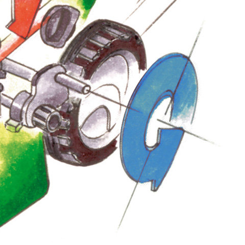 Radantrieb  Der Radantrieb erleichtert das Rasenmähen vor allem bei größeren Flächen und Steigungen. Je nach Modell sind VIKING Mäher mit einem oder drei Vorwärtsgängen bzw. mit stufenlosem Vario-Antrieb ausgestattet.