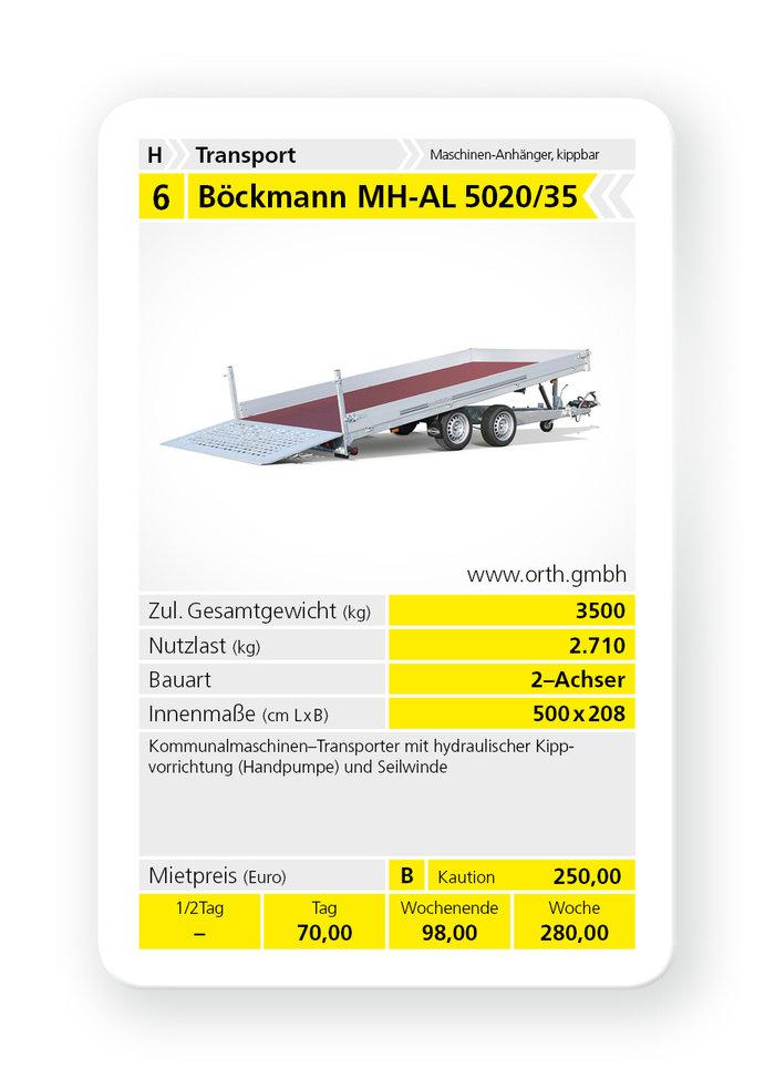 Mieten                                          Autotransporter:                     Böckmann - MH-AL 5020/35 (mieten)